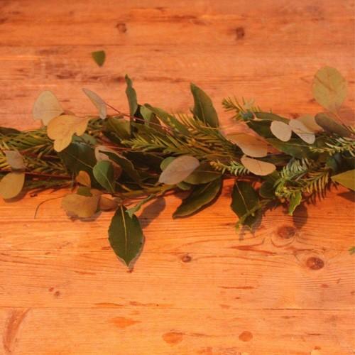 Foliage Coffin Garland